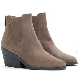 """NWT-Eileen Fisher """"Peer Booties"""" Taupe Colour"""